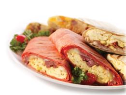 Hot-Breakfast-Omelette-Wraps