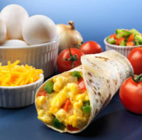 Breakfast omelette Wrap