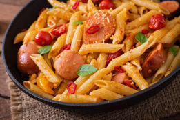 penne with hot italian sausage