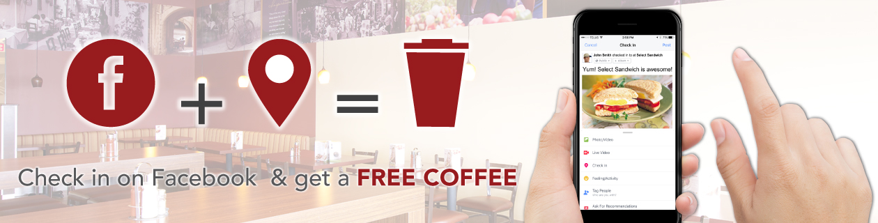 Free Coffee Facebook Check in